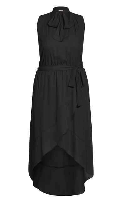 Adriatic Plain Dress - black