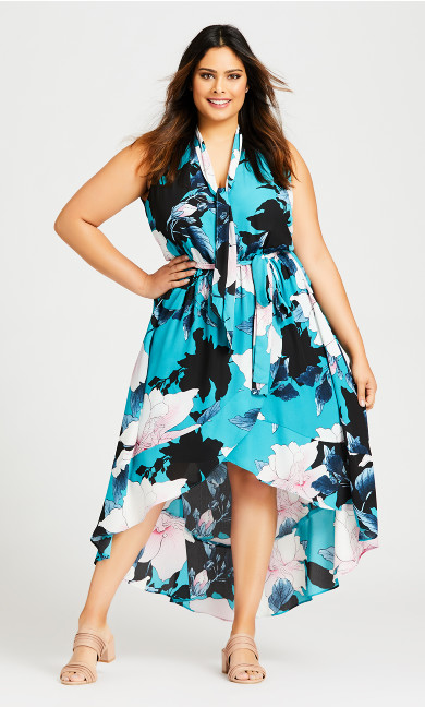 Plus Size Adriatic Dress - aqua