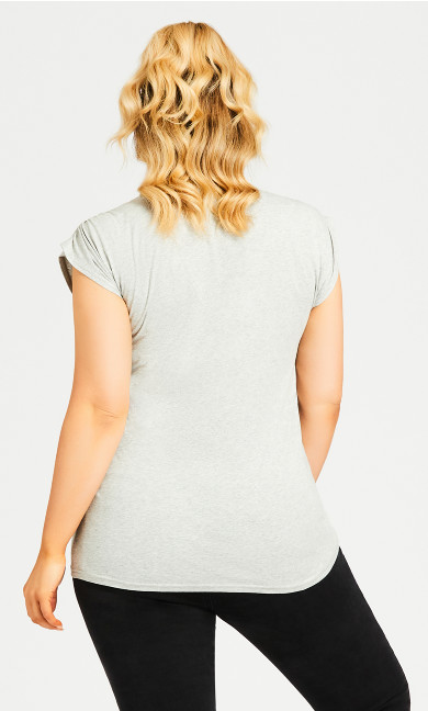 Diamante Pocket Tee - gray