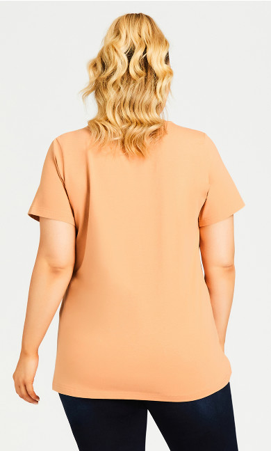 Boxed Slogan Top - blush