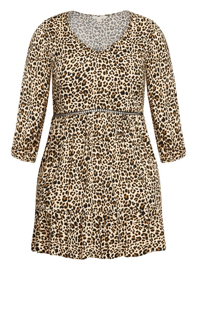 Lora Smock Dress - cheetah