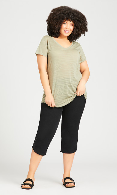 Textured Burnout Top - sage