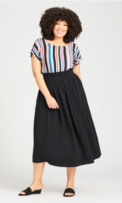 Plus Size Chelsea Skirt - black