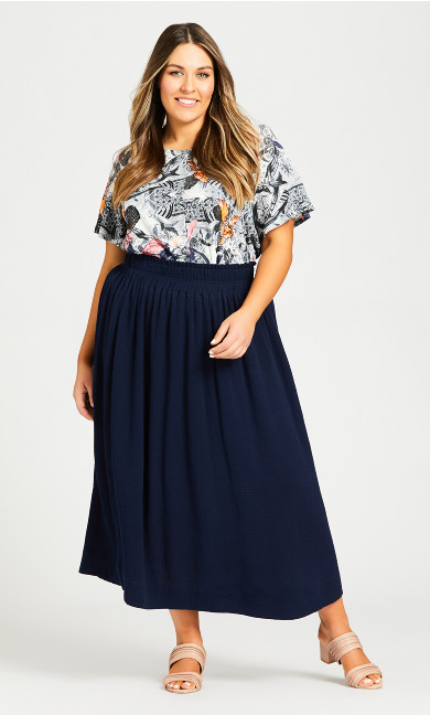 Plus Size Chelsea Skirt - navy