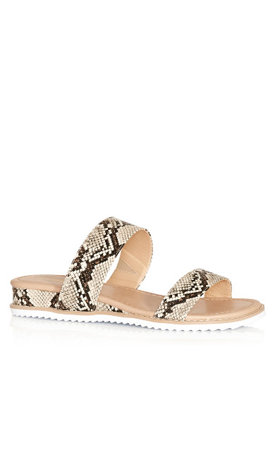 Plus Size Deena Slip On Sandal - snake