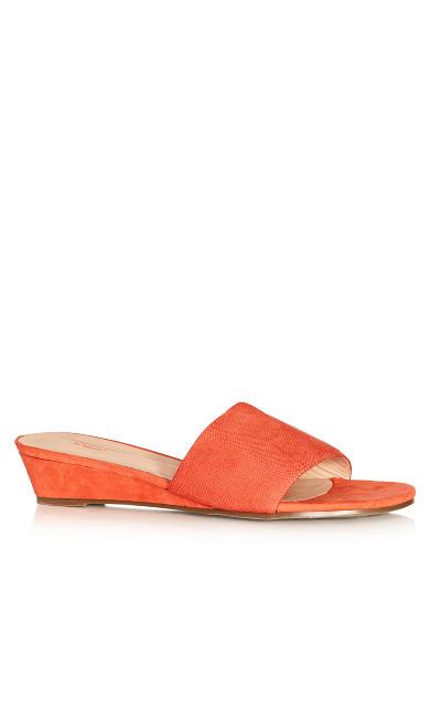 Annie Slide Sandal - coral