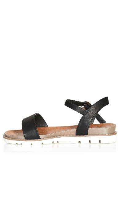 Kylie Flat Sandal - black