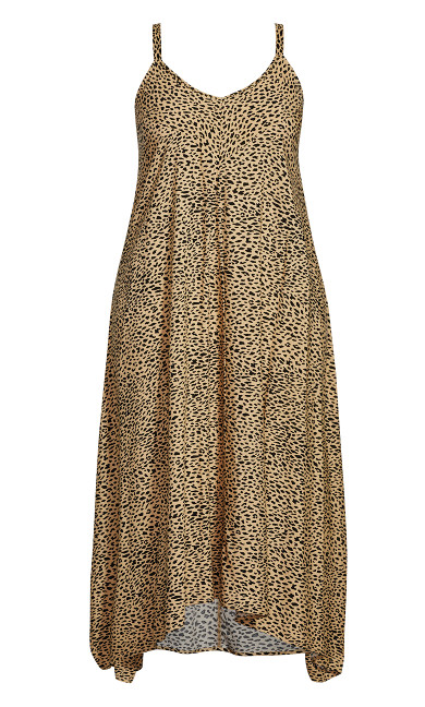 Trapeze Toffee Dress - animal