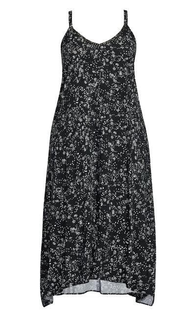 Trapeze Toffee Dress - black