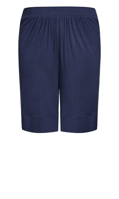 Knit Hem Short - navy