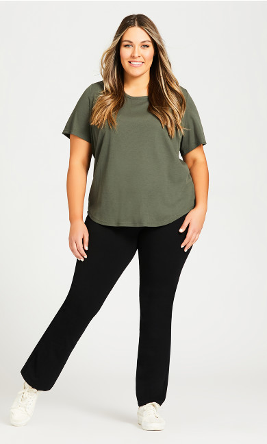 Plus Size Legging Pima Bootleg Black - average