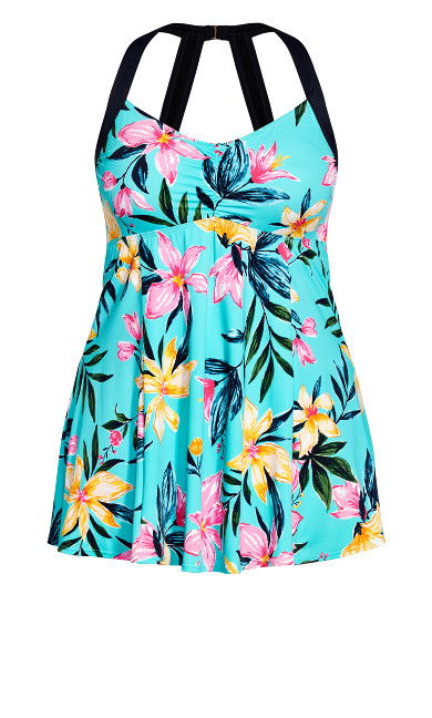 Halter Neck Swim Dress - aqua