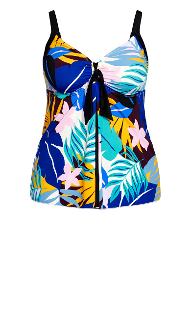 Handkerchief Swim Dress - blue print