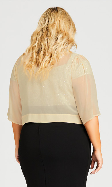 Chiffon Shrug - cream