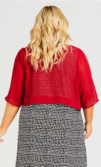 Chiffon Shrug - red