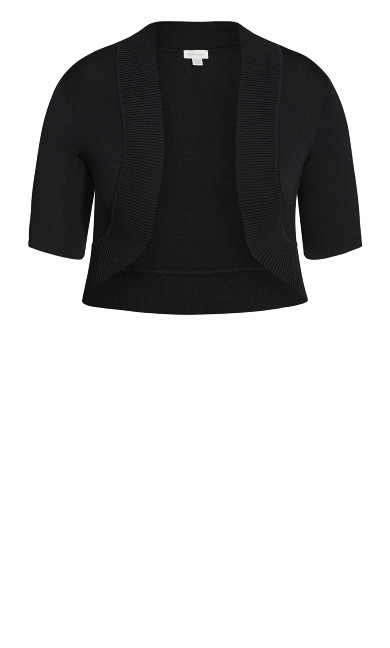 Knit Shrug - black