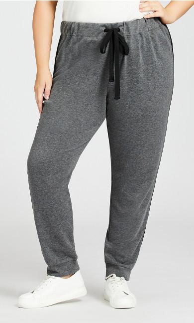 Plain Knit Pant - charcoal
