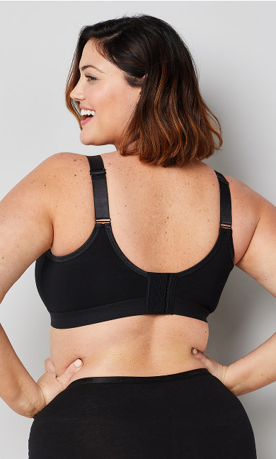 Basic Cotton Bra - black