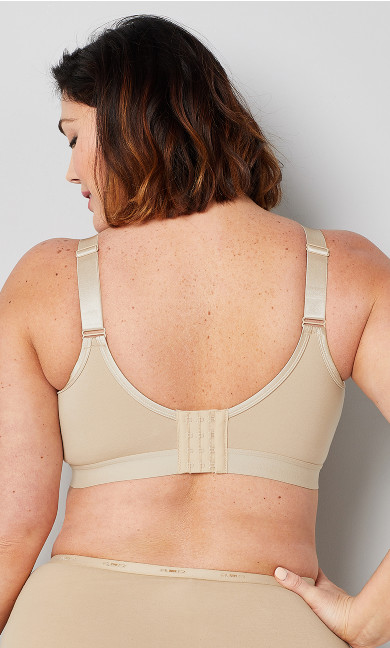 Basic Cotton Bra - beige