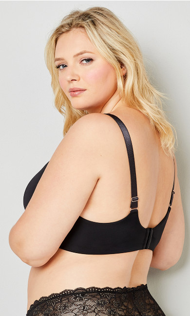 Basic Plunge Bra - black