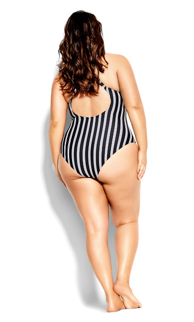 Palm Beach 1 Piece - black stripe