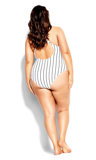 Palm Beach 1 Piece - white stripe