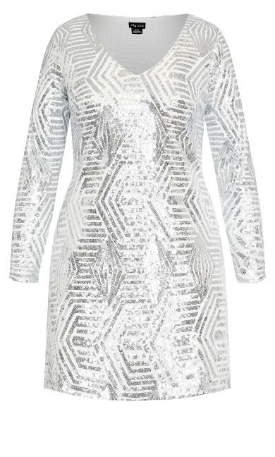 Bright Lights Dress - white