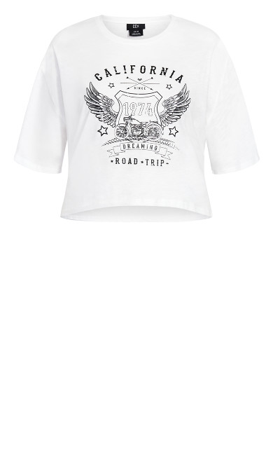 Born To Ride Top - ivory
