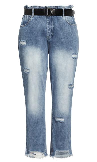Belted Skinny Jean - light denim