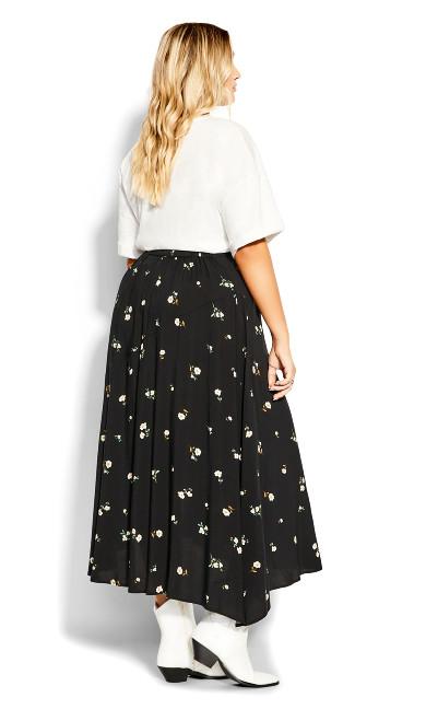 Darling Ditsy Skirt - black