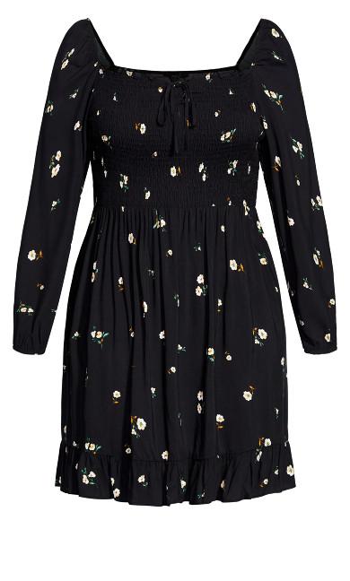 Darling Ditsy Dress - black