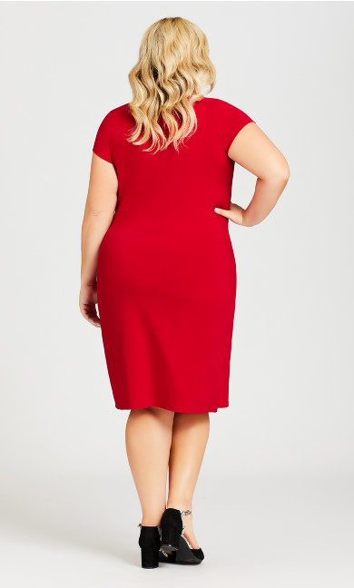 Donna Plain Dress - ruby