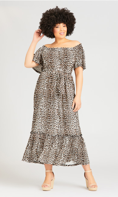 Plus Size Latifa Dress - animal