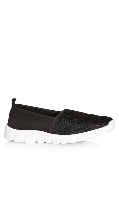 Plus Size Zadie Slip On - black
