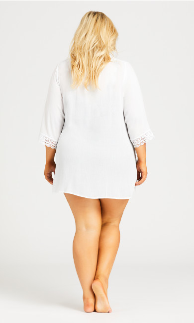 Crinkle Cover  Up - white