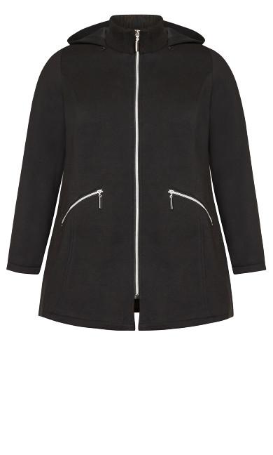 Hooded Fleece Jacket - black