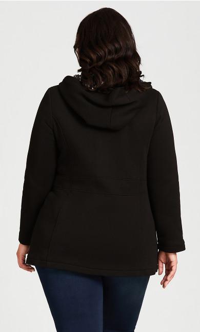 Animal Contrast Jacket - black