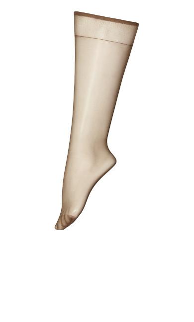 Plus Size Beige Knee High Socks
