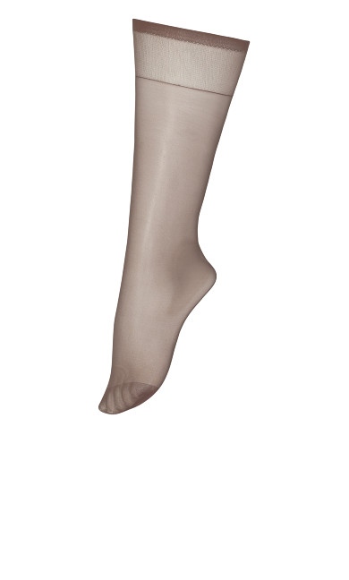 Plus Size Knee High Socks - coffee