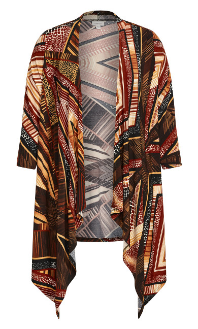 Printed Overpiece - brown