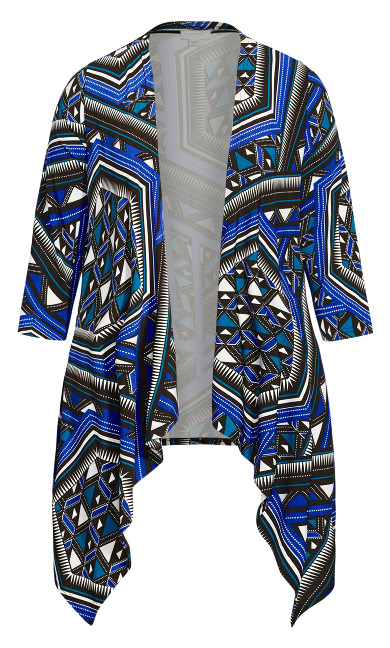 Printed Overpiece - cobalt