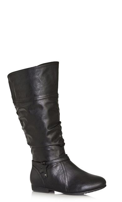 Plus Size Chelsea Tall Boot - black
