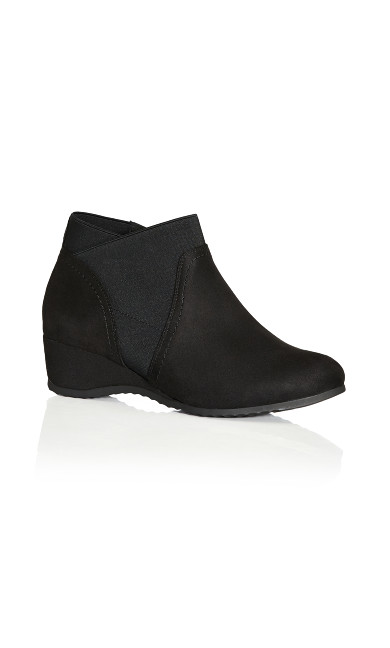 Plus Size Keira Ankle Boot - black