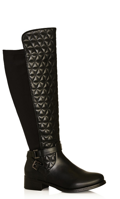 Plus Size Diana Tall Boot - black