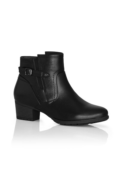 Plus Size Lynn Ankle Boot - black