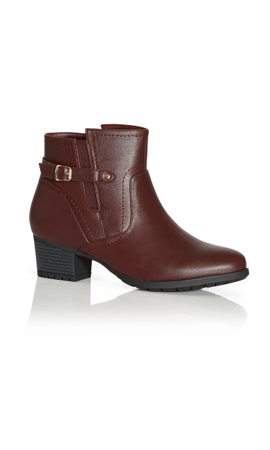 Plus Size Lynn Ankle Boot - burgundy