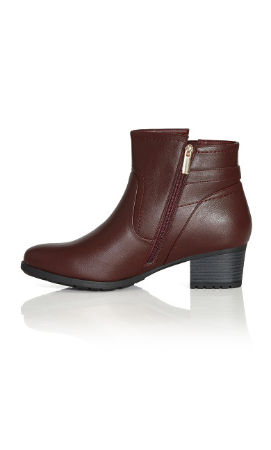 Lynn Ankle Boot - burgundy