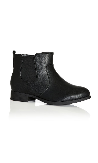 Plus Size Brigitte Ankle Boot - black