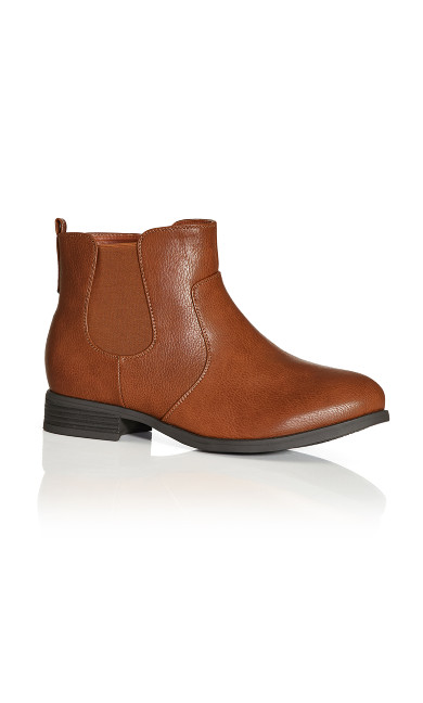 Plus Size Brigitte Ankle Boot - brown