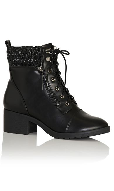 Plus Size Rita Ankle Boot - black